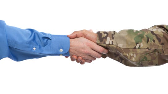 A job fair for active duty service members and veterans