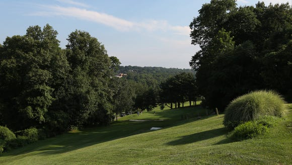 The 7th hole at Dunwoodie Golf Course in Yonkers Aug.