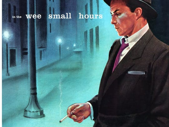 "The cover to Frank Sinatra's classic 1955 album ""In the Wee Small Hours."""