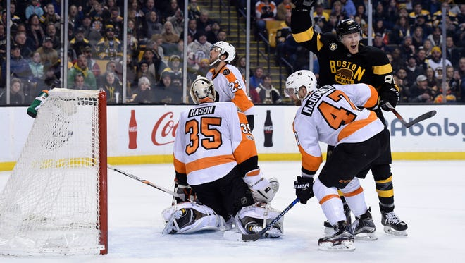 Brandon Manning tipped the game-winning goal behind his own goalie with 5.6 seconds left in regulation.