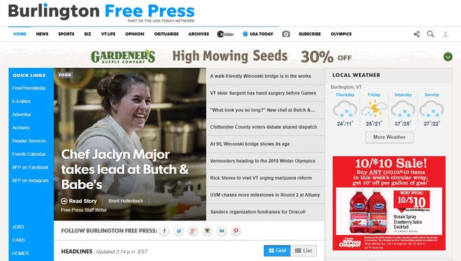 A Burlington Free Press digital subscription provides instant and unlimited access.
