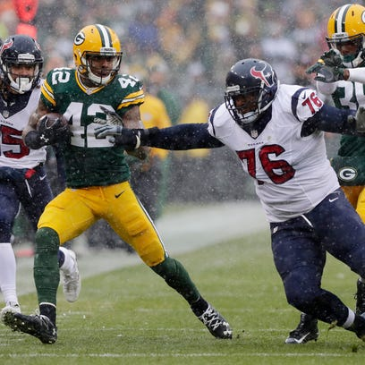 Green Bay Packers strong safety Morgan Burnett (42)