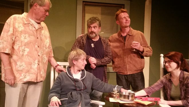 """The cast of Bunbury Theatre Company's production of """"Stages of Bloom,"""" a new play by Kentucky writer Liz Fentress."""