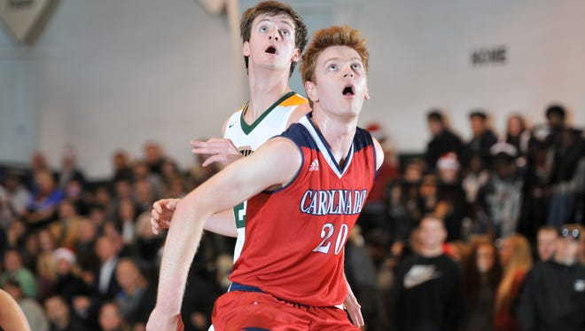 Carolina Day senior Ben Lochen (20) has committed to play college basketball for Randolph (Va.).