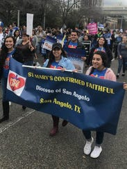 Youths from San Angelo's St. Mary's Catholic Church