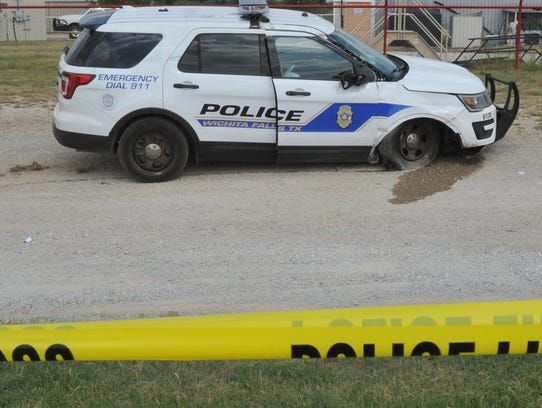 Wichita Falls police taped off a portion of Highway