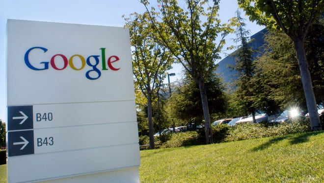 The Google logo is seen on a sign outside of Google Inc. headquarters in Mountain View, CA.