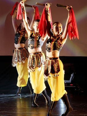 Chinese Arts Dancing Ensemble of Chinese Taipei (Taiwan) is performing at Folkmoot.