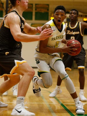 Parkview's Tyem Freeman is seen here playing against Kickapoo on his home court in Springfield on Dec. 1, 2017.