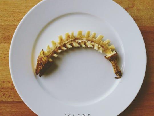A fish bone banana.
