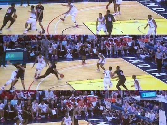 One of Donovan Mitchell's eight drives within Louisville's