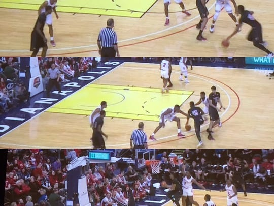 Another example, this time in the second half, of Donovan