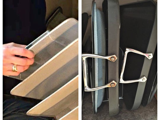 A file holder can provide a solution to keep your cabinets organized.