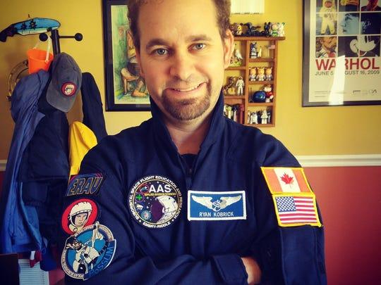 Ryan Kobrick, a professor at Embry Riddle Aeronautical University and chairman of Yuri's Night.