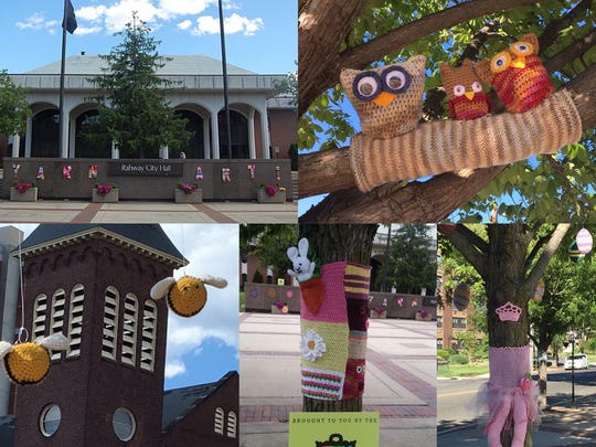These scenes capture some of the scope of the YarnArt installation in downtown Rahway. It is sponsored by the Rahway Art and Business Partnership.