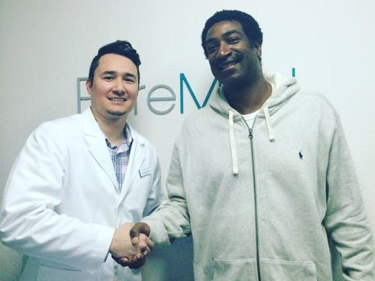 Dr. Scott McGrath, DC with former NBA player Bill Willoughby