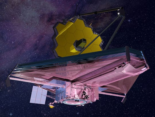 Artist rendering of NASA's James Webb Space Telescope