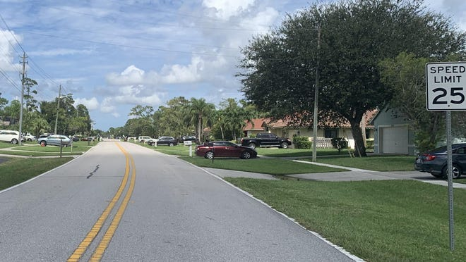 The speed limit on Wellington Trace west of Greenview Shores Boulevard is 25 mph. Resident Alexander Terry said it is a limit drivers rarely obey, creating safety issues.