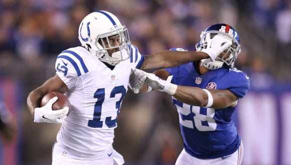 WR T.Y. Hilton is among the Colts players due a pay
