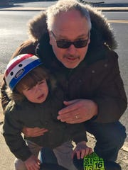 Mark Roebuck, 57, of Staunton pauses briefly to take