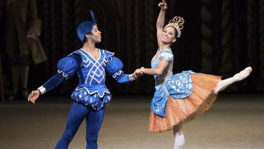 "Misty Copeland (Princess Florine) and Gabe Stone Shayer (Bluebird) in Alexei Ratmansky's ""The Sleeping Beauty."""