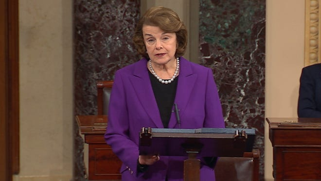 Sen. Dianne Feinstein, D-Calif. speaking on the floor of the Senate