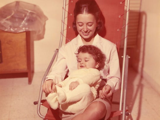 Pianist Nada Loutfi as a baby with her mother, Valerie Reptsik Loutfi.