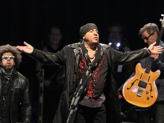 Steven Van Zandt takes the stage with Bruce Springsteen and the E Street Band at MetLife Stadium in East Rutherford, NJ, Tuesday, August 23, 2016.