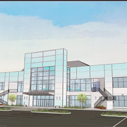 A rendering of the south side of the former Irondequoit