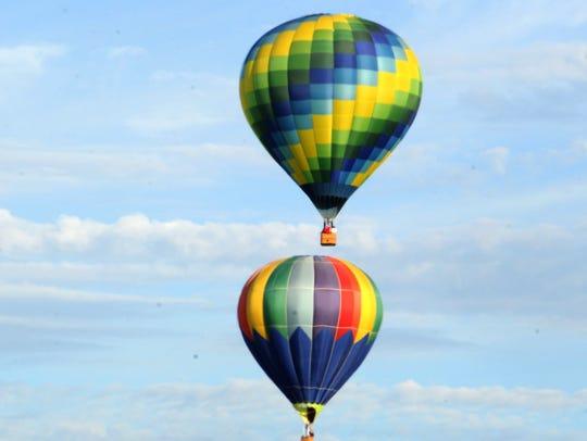 Hot air balloons last seen over the Santa Paula skies