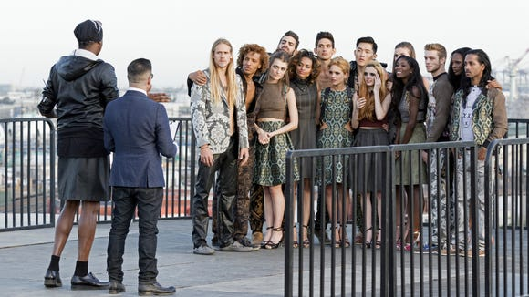 "The cast of ""America's Next Top Model"" on the most recent episode, which ended with the elimination of University of Delaware junior Delanie Dischert."