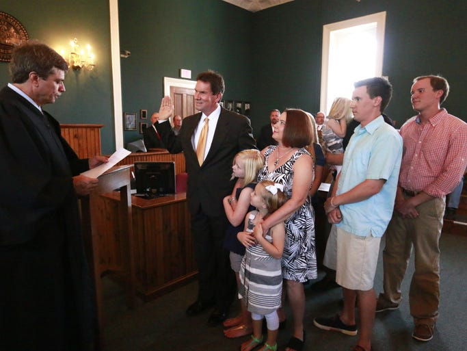 Cheatham County's newly-elected officials were sworn into office on Aug. 24. They will take office on Sept. 1. A reception followed the ceremony.
