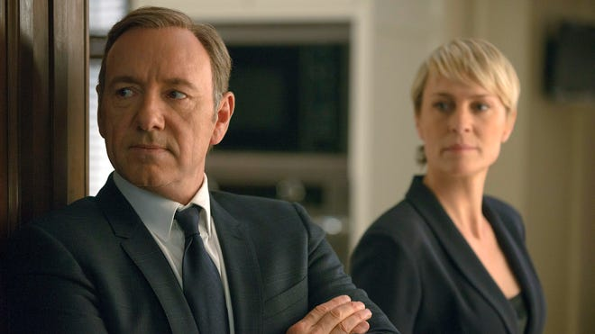 """Kevin Spacey is Francis Underwood, and Robin Wright plays Clair Underwood in the Netflix series """"House of Cards."""""""