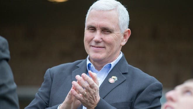 Gov. Mike Pence is staying out of Indiana's race for the U.S. Senate to replace Sen. Dan Coats, but said he might endorse a presidential candidate.