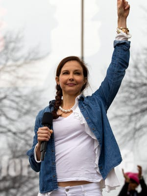 Actress Ashley Judd performs during the Women's March on Washington on Jan. 21 in Washington, D.C.