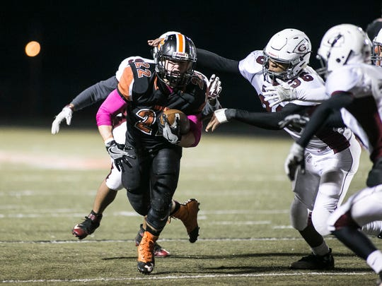 York Suburban's Teague Hoffman was a standout on both sides of the ball. He was selected the York-Adams Division II Defensive Player of the Year. Amanda J. Cain photo