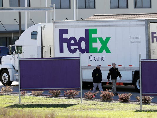 FedEx distribution center in Schertz, Texas on March 20, 2018