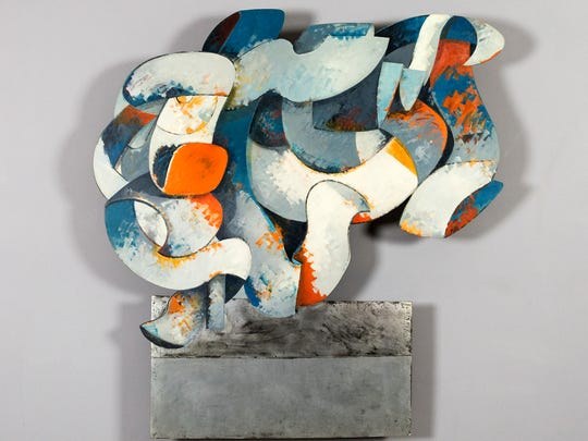 """""""Ribbons III"""" by Mel Katz is a 3-D wall hanging that illustrates the artist's transition from painting to sculpture."""