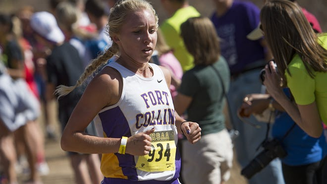 Fort Collins High School's Lauren Gregory, shown in a file photo, is a cross-country First Team All-American after her performance at Nike Cross Nationals.