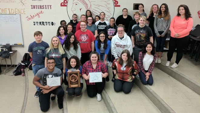 The Port Clinton High School Chorale received a Superior rating at the OMEA State level contest.