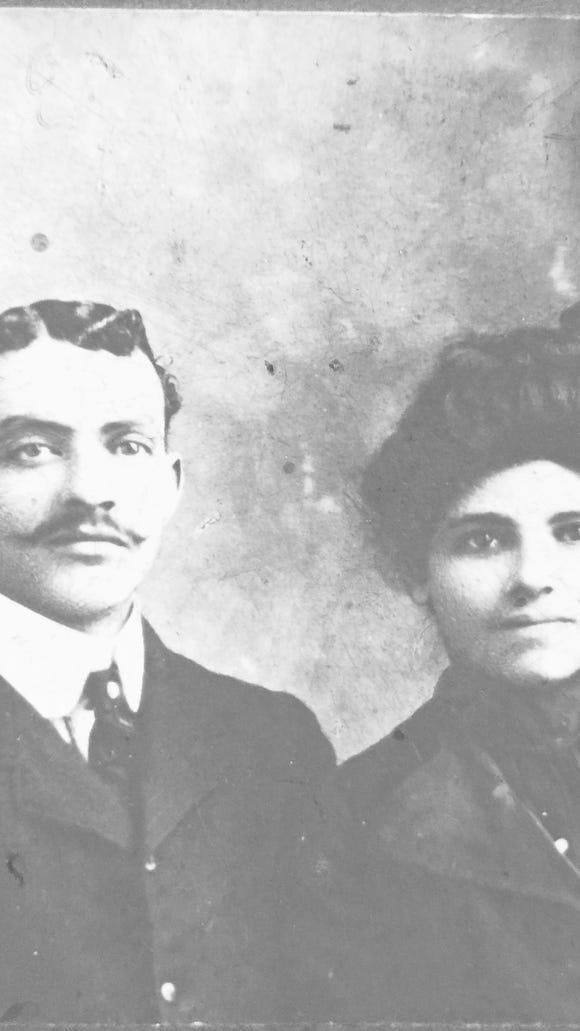 Detective John E. Eubanks,Sr. and his wife Belle Hawkins Eubanks