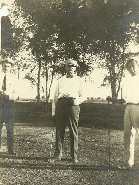 Dr. A.J. Chandler (center), the founder of the city that bears his name, founded the San Marcos Golf Course in 1913 near present-day downtown. He relocated it to its current location the following year.