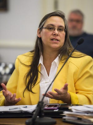 Vermont Department of Corrections Commissioner Lisa Menard at the Statehouse in Montpelier in February 2016.