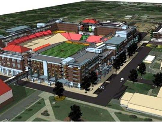 Concept art of what Bragg Memorial Stadium could look like with a $60 million renovation.