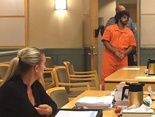 "Justin L. ""Spazz"" Daughtry was arraigned Tuesday afternoon"