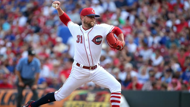 Cincinnati Reds relief pitcher Drew Storen (31) delivers in the sixth inning during the National League baseball game between the Chicago Cubs and the Cincinnati Reds on July 1, 2017, at Great American Ball Park.