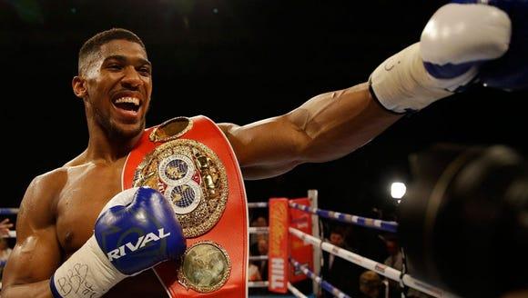 Anthony Joshua owns the WBA, IBF and WBO championship