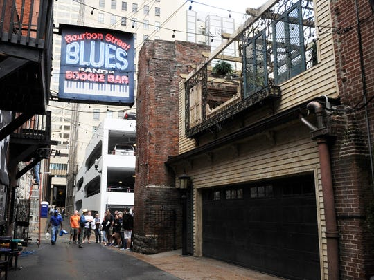 Bourbon Street Blues and Boogie Bar is among the live music venues on Printers Alley.