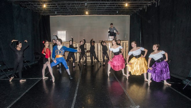 "Montgomery Ballet rehearses for ""Carmen"" in their new black box theater at their studio, 2101 Eastern Blvd., Suite 223. Friday and Saturday's production will be the first in their facility."