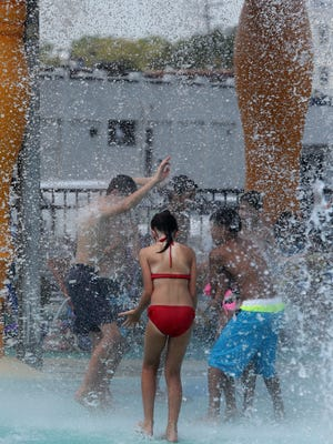 As the heat index rose above 100 degrees again people tried to find ways to cool off on Friday  August 12, 2016.